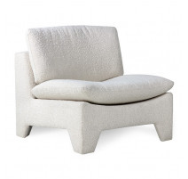 Fauteuil lounge Retro cream, HK Living