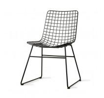 Chaise fil métal noir, HK Living