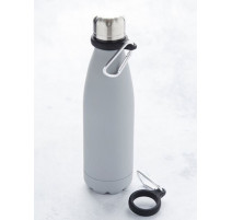Mousqueton avec support en silicone noir pour bouteille, Point Virgule