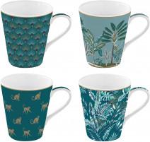 Coffret 4 mugs Coffee Mania Jungle, Easy Life