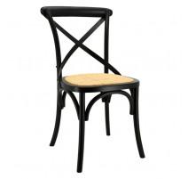 Chaise de bristrot en bouleau et rotin, Aubry Gaspard