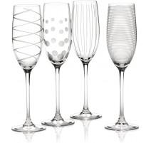 Lot de 4 flûtes à champagne Cheers, Mikasa