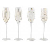 Lot de 4 flûtes à champagne Cheers Metallics, Mikasa