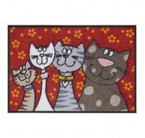 Tapis 50x75cm Katzenfamilie, Salonloewe Efia
