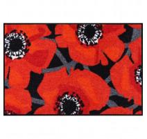 Tapis 50x75cm Bloom Poppy Black, Salonloewe Efia