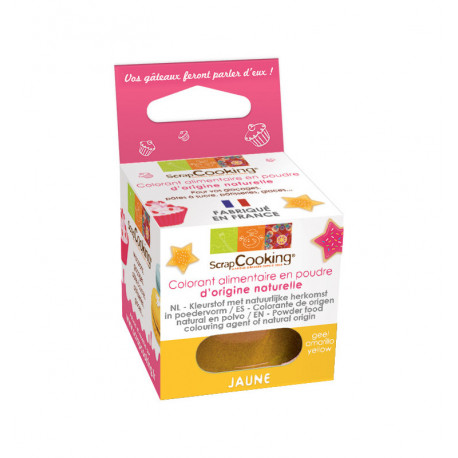 Colorant alimentaire naturel jaune, Scrapcooking
