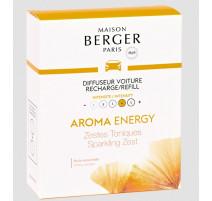 2 recharges diffuseur de voiture Aroma Energy, Maison Berger