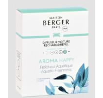 2 recharges diffuseur de parfum voiture Aroma Happy, Maison Berger