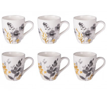 Coffret 6 tasses à café Flora, Table Passion