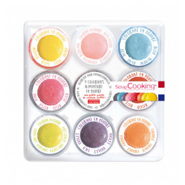 9 Colorants artificiels en poudre, ScrapCooking