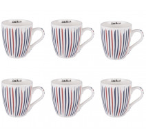 Coffret 6 tasses à café multico, Little Marcel