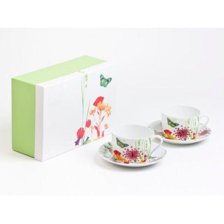 Coffret de 2 tasses déjeuners Tutti Fiori, Table Passion