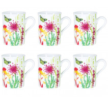Coffret 6 mugs Tutti Fiori, Table Passion