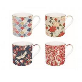 Coffret 4 mugs 30 cl Okinawa, Easy Life