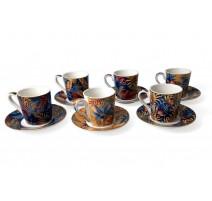 Coffret 6 tasses à café motifs colorés, Easy Life