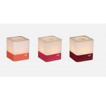 3 photophores Cuub Piment/Capucine/Rose praline, Fermob