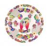 """Plat rond 35 cm collection """" Les Perroquets """", Les Jardins de la Comtesse"""