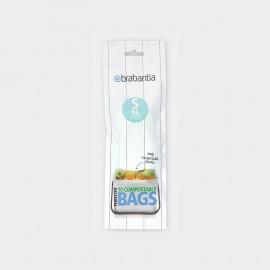 Sacs poubelle compostables S 6 L, Brabantia