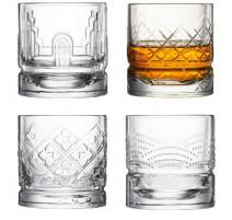 Coffret 4 verres à whisky Dandy , La Rochère