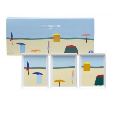 Coffret 3 mini plats Destination Mer, Guy Degrenne - GUY DEGRENNE