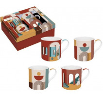 Coffret 4 mugs collection Illusion, Easy Life