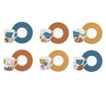 Coffret 6 tasses à café collection Illusion, Easy Life