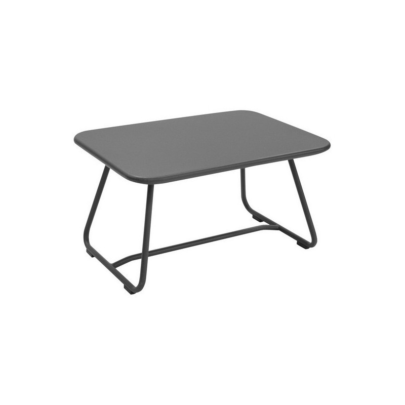 Acheter table basse sixties fermob gris orage tables de for Table exterieur fermob