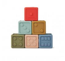 Set de 6 dés de bain en silicone Gloria Mulitcolore, Liewood
