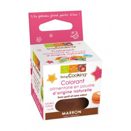 Colorant alimentaire naturel marron, ScrapCooking