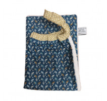 Serviette élastiquée Fleurs Bleues, Les Petits Pinpins