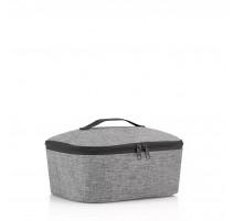 Coolerbag M Pocket Twist Silver, Reisenthel