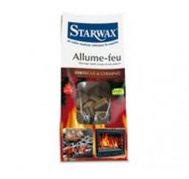 72 carrés allume-feu en sac, Starwax