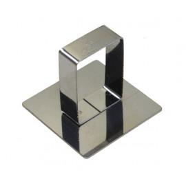 Poussoir carré 5,8cm avec poignée, Gobel