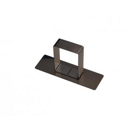 Poussoir rectangle 8,8cm avec poignée, Gobel