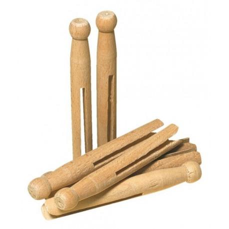Pinces à linge en bois x25, Redecker