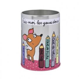 Pot à crayons Yeux doux, Derrière la porte