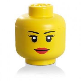 Tête de rangement Fille, Lego
