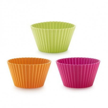 6 moules muffins couleurs, Lékué