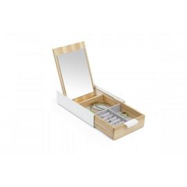 Boîte à bijoux reflexion blanche, Umbra