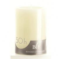 Bougie cylindrique ivoire 10cm, Bougie La Française