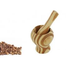 Pilon et mortier bambou bicolore, Siba