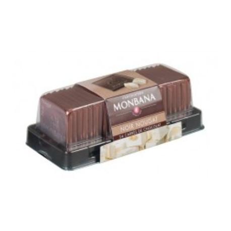 Carré chocolat noir-nougat x24, Monbana