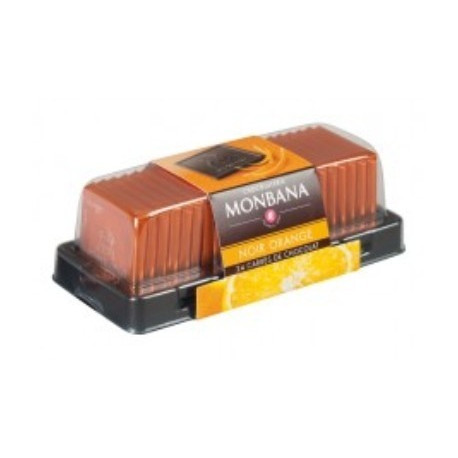 Carré chocolat noir orange x24, Monbana