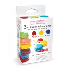 3 colorants artificiels en poudre, Scrapcooking