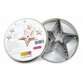 6 emporte-pièces étoiles, Scrapcooking