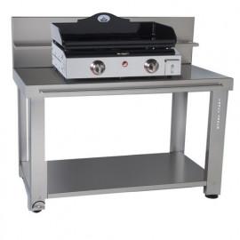 Acheter table roulante inox pour plancha forge adour d placer sa plancha c - Table roulante pour plancha ...