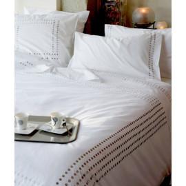 Taie d'oreiller Venezia blanc, Essix