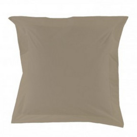 Taie d'oreiller en percale taupe, Essix
