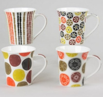 Mugs en porcelaine Jaipur Jaune, Table Passion