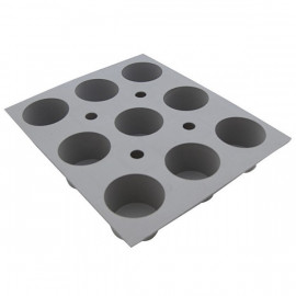 Plaque 9 mini-muffins Elastomoule, De Buyer